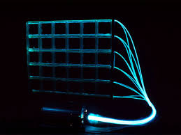 fiber optic glass block