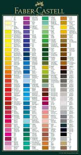 Faber Castell Classic Colour Chart Faber Castell Colour Chart Information Hints And Tips Page