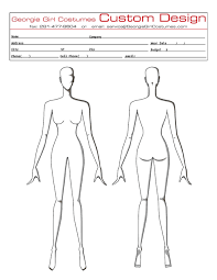 Blank Paper Doll Template Saucony Body Measurement Guide