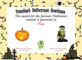 Halloween Costume Awards Sample Halloween Certificates Download Them Or Print