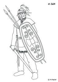 Kids N Fun Kleurplaat Romeinse Tijd Kelt Vijand Van De Romeinen
