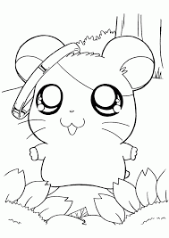 Small Picture Hamster Three Walking Hamsters Coloring Page Free Hamster