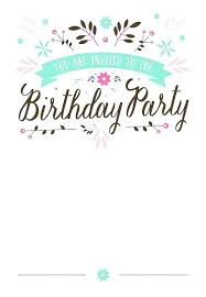 Party Invitation Template Word Free Birthday Invitation Templates Free Word Free Birthday