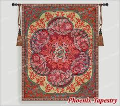 red moroccan style tapestry wall