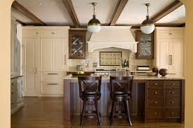 traditional cream and brown kitchen design view full size