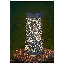 patio solar lights australia. solvinden led solar-powered floor lamp, cone-shaped white height: patio solar lights australia l