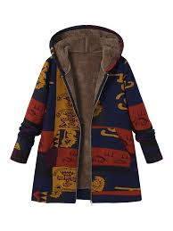 printed hooded coats