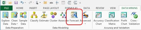 forecast model in excel forecast wizard data mining add ins for excel