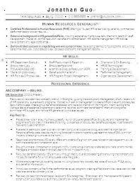 Hr Assistant Resume Classy Human Resource Generalist Resume New Resume Samples For Hr Sample