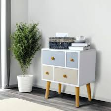 4 drawer coffee table lifewit wood nightstand side table end table storage cabinet w 4 drawers