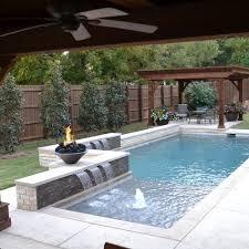 backyard with pool design ideas. Affordable, Premium Small Dallas Plunge Rectangular Pool Design Ideas, Remodels \u0026 Photos Backyard With Ideas E