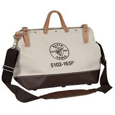 klein tools 24 in deluxe canvas tool bag