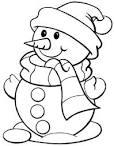Раскраска снеговик голова