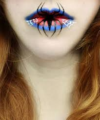 lip art creepy makeup