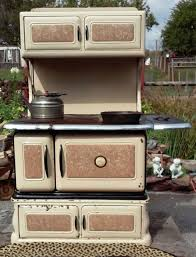 antique cast iron porcelain enamel finish kitchen stove coal wood local pickup