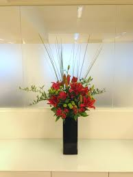 Office Flower Oriental Red Lily Office Flower Display Flowers By Flourish
