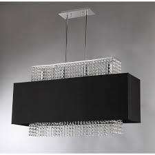 rosanna 4 light chrome indoor black fabric crystal chandelier with shade