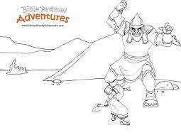 Bible Coloring Pages David And Goliath Scootershd Wallpapersga