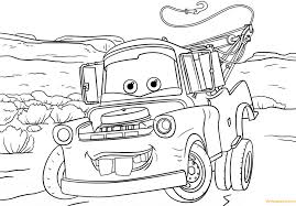 Tow Mater from Cars 3 from Disney Cars Coloring Page - Free ...