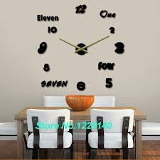 modern home decor diy metal hand wall clock art design style 3d stickers big time large size clocks frameless in wall clocks from home garden on  on wall clock art design with modern home decor diy metal hand wall clock art design style 3d