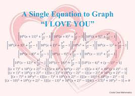 one equation that when graphed forms the words i love you