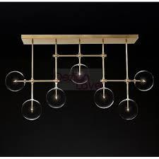 rh glass globe mobile linear led chandelier an industrial lighting design on dezignlover com