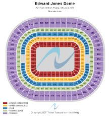 Edward Jones Dome Seating Chart Football Cheap Edward Jones Dome Tickets