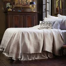 Lili Alessandra Battersea King Bedspread in Ivory & Battersea Ivory Bedspread King Adamdwight.com