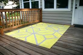 yellow outdoor rug painted outdoor rug on wood deck yellow outdoor rug