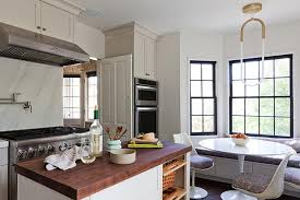 kitchen bay window seat. Exellent Window Butcher Block Top Island With Baskets On Kitchen Bay Window Seat I