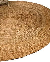 O NaturalAreaRugs Elsinore Round Jute Rug 100 Jute Hand Braided By Artisan  Rug Maker