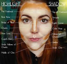 contouring and highlighting what not to do this is way over doing it
