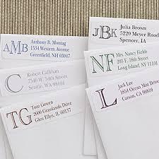 Monogram Return Address Labels Custom Monogram Personalized Address Labels