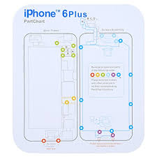Iphone 6 Plus Screw Size Chart Ipartsbuy For Iphone X 8 8 Plus 7 7 Plus 6s Plus 6s 6 6 Plus Magnetic Memory Screws Mat Size 17 8cm X 15 9cm