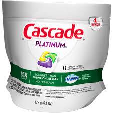 Dishwasher Brands Cascade Platinum Actionpacs Lemon Scent Dishwasher Detergent 11