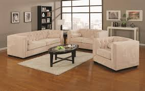 Transitional Living Room Furniture Coaster Alexis Transitional Chesterfield Stationary Loveseat With