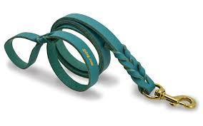 j j braided leather dog leash teal 1 2 inch wide by 6 feet long com