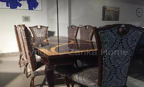 dining table and chairs for sale in karachi. dining table in black theme and chairs for sale karachi