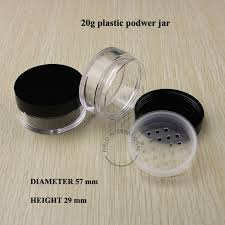 empty cosmetic conners loose powder conner plastic jars with lids makeup conners nail art conner 20ml gram 24pcs lot in cotton swabs from beauty