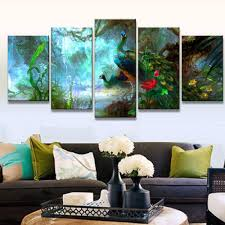 Peacock Colors Living Room Popular Peacock Art Prints Buy Cheap Peacock Art Prints Lots From