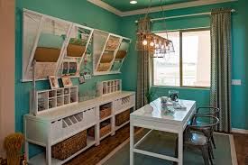 wall mounted home office. Good Looking Wall Mounted Drying Rack In Home Office Traditional With Diy Desk Next To Sewing Room Alongside Craft Table And Hide Storage Curtains U