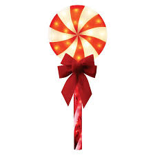 Lowes Lollipop Lights Outdoor Christmas Yard Decorations Thatll Be The Envy Of