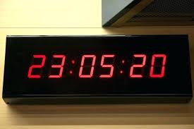 modern digital wall clock clocks and travel round