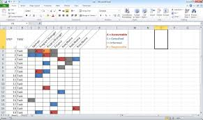 raci chart excel create a basic raci chart youtube