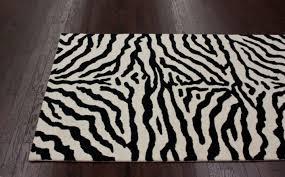 modern zebra print carpet