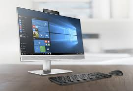 the all in one model features a pair of dual facing s alongside a touchscreen with a non glare coating and it is joined by the elitedesk 800 g3