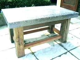 cement coffee table low round