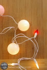 diy christmas lighting. Diy Christmas Light Balls On Ping Pong Garland For Decor Craft Lighting