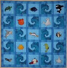 shark quilt fabric | Quilts Ideas Pictures & ... Shark Quilt Ocean animal applique PDF baby quilt pattern; paper pieced  wave . Adamdwight.com