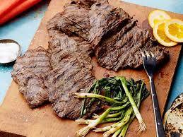 beer marinated grilled skirt steak recipe marcela valladolid food network